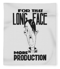 For That Long Face - More Production Fleece Blanket