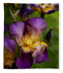 For The Love Of Iris Fleece Blanket