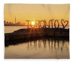For The Love Of Toronto Fleece Blanket