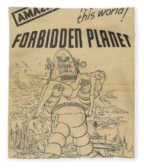 Forbidden Planet In Color This Picture Retro Classic Movie Poster Portraite Fleece Blanket