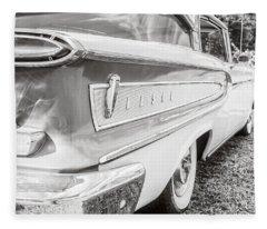 Ford Edsel Black And White Fleece Blanket