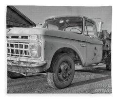 Ford F-150 Dump Truck Bw Fleece Blanket