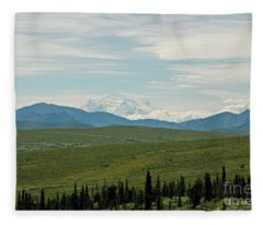 Foreground And Mountain Fleece Blanket
