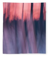 Forest Abstract Fleece Blanket