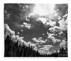 A New Day, Black And White Fleece Blanket