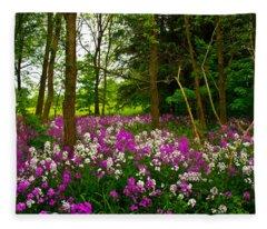 Forest Color Fleece Blanket