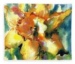 Forest Daffodil The Prayer Fleece Blanket