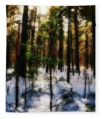 Forest Dawn Fleece Blanket