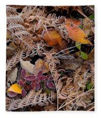 Forest Ferns Fleece Blanket