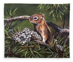 Forest Friend Fleece Blanket