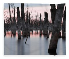 Forest In The Water Fleece Blanket
