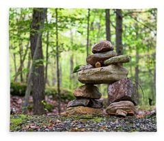 Forest Inukshuk Fleece Blanket