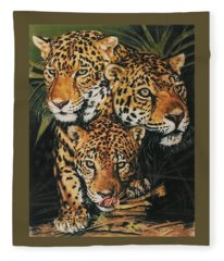 Fleece Blanket featuring the pastel Forest Jewels by Barbara Keith