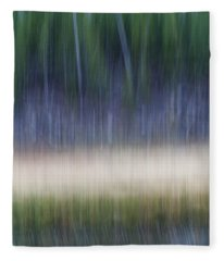 Forest Meets Lake Fleece Blanket