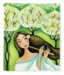 Forest Melody Fleece Blanket