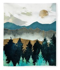 Forest Mist Fleece Blanket