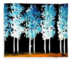 Forest Of Nightmares  Fleece Blanket