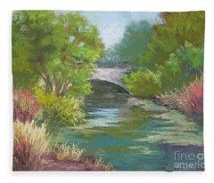 Forest Park Bridge Fleece Blanket