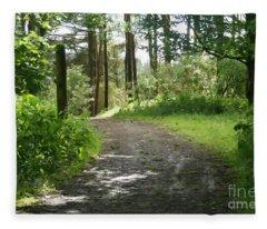 Forest Path. Fleece Blanket
