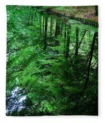 Forest Reflection Fleece Blanket