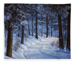 Forest Road Fleece Blanket