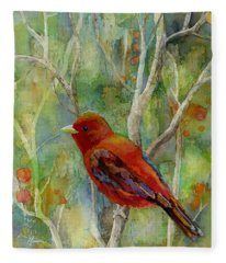 Forest Serenity Fleece Blanket