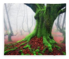 Forest Speeches Fleece Blanket