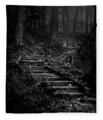 Forest Stairs Fleece Blanket