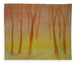 Forest Study Fleece Blanket