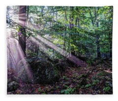 Forest Sunbeams Fleece Blanket