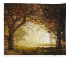 Forest Sunrise Fleece Blanket