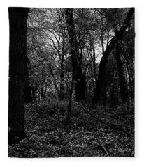 Forest Through The Trees Fleece Blanket