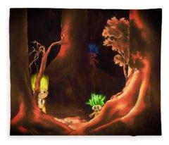 Forest Trolls Fleece Blanket
