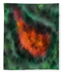 Forest Under Fire Fleece Blanket