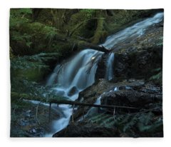 Forest Waterfall. Fleece Blanket