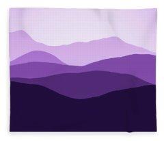 Forever Purple Hills Fleece Blanket