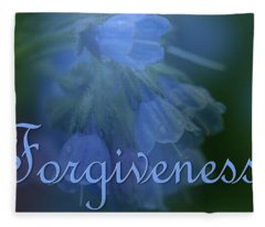 Forgiveness Blue Bells Fleece Blanket