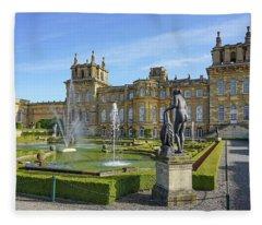 Formal Garden Blenheim Palace Fleece Blanket