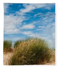 Formby Sand Dunes And Sky Fleece Blanket