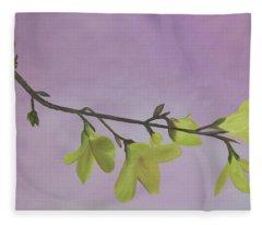 Forsythia Fleece Blanket