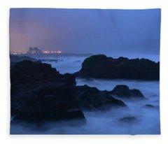Fort Bragg Long Exposure Seascape I Fleece Blanket