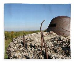 Fort De Douaumont - Verdun Fleece Blanket