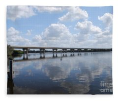 Fort Hamer Bridge Fleece Blanket