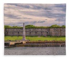 Fort Independence At Castle Island Fleece Blanket