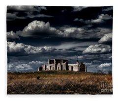 Fort Laramie Hospital Ruins Fleece Blanket