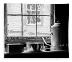 Fort Mackinac Kitchen View Fleece Blanket