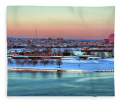 Fort Mchenry Shrouded In Snow Fleece Blanket