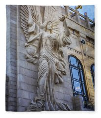 Fort Worth Impressions Bass Hall Angel Fleece Blanket