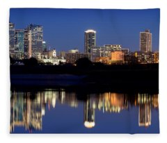 Fort Worth Reflection 41916 Fleece Blanket