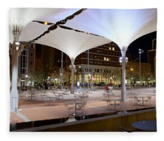 Fort Worth Sundance Square Fleece Blanket